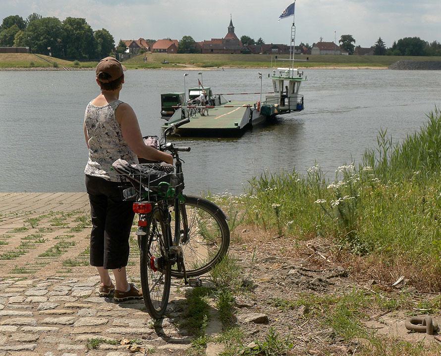 Radlerin auf Elberadtour Schnackenburg Lütkenwisch